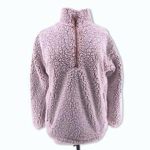 Forever 21 Sherpa Sweater Teddy Bear Fleece M